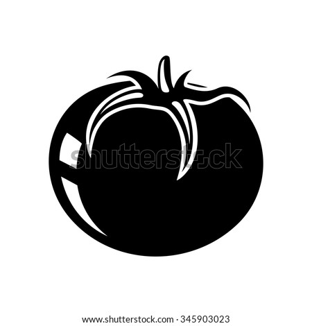 vegetable tomato icon - stock vector