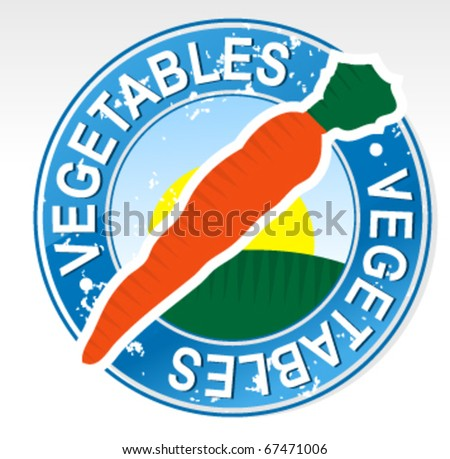Vegetables Badge Clipart - stock vector