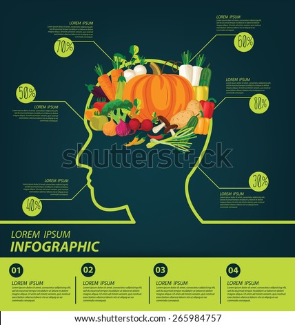vegetables infographics. vector illustration. - stock vector