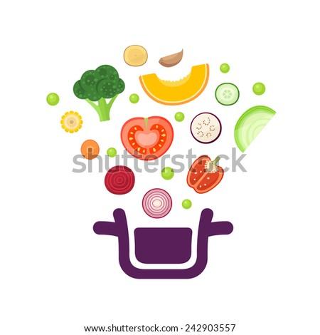 Vegetables vector illustration - stock vector