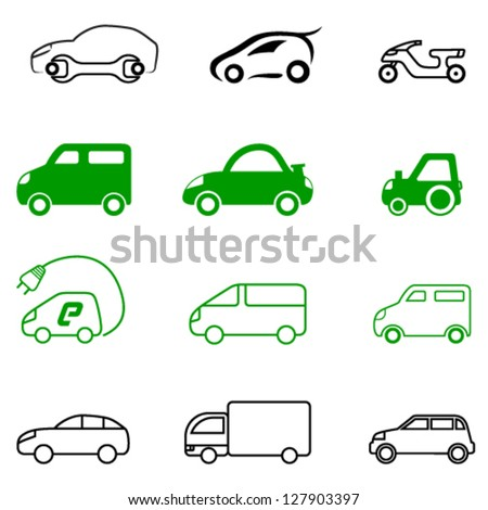 vehicle signs - vector illustration - stock vector