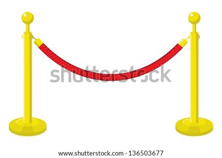 velvet rope - stock vector
