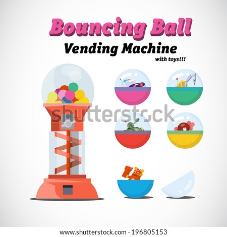 vending machine toys - vector illustration - stock vector