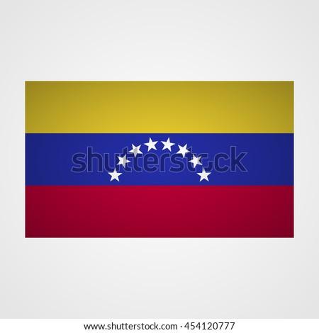 Venezuela flag on a gray background. Vector illustration - stock vector