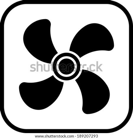 Ventilator air conditioner vector icon - stock vector