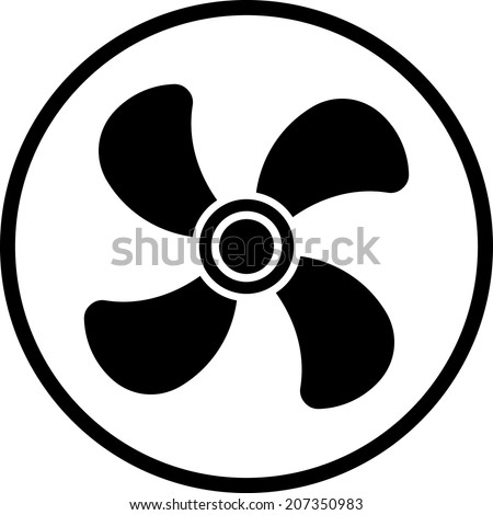 Ventilator airscrew. Air conditioner vector icon - stock vector