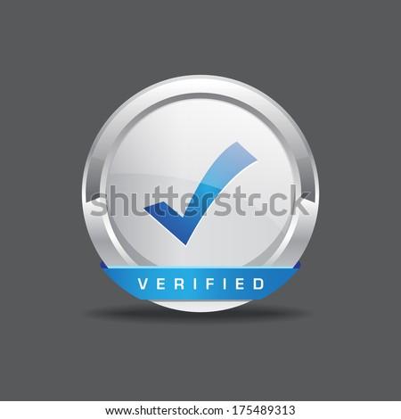Verified Tick Mark Vector Button - stock vector