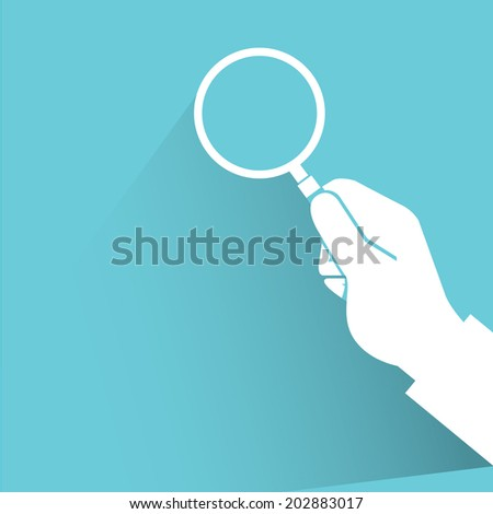 verify concept, blue shadow and flat theme - stock vector