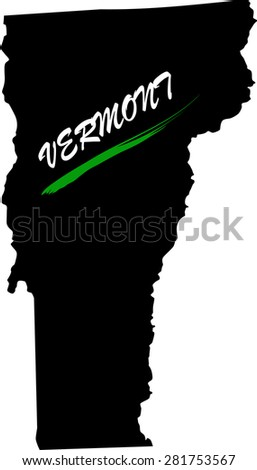 Vermont map vector in black and white background, Vermont map outlines in a new design - stock vector