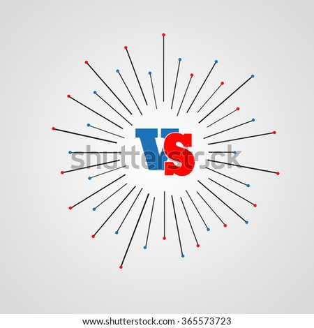 Versus Logo. VS Vector Letters Illustration. Competition Icon - stock vector