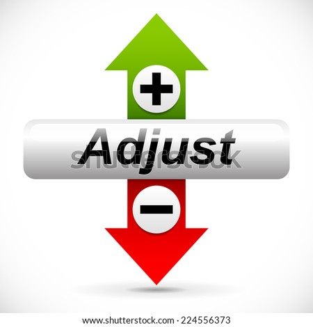 Vertical adjustment. Adjust up, down element - stock vector