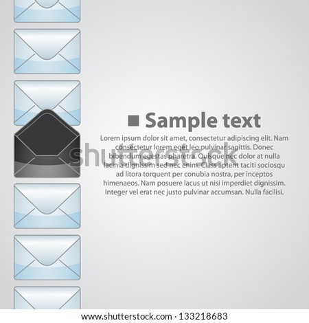 Vertical background writing - stock vector