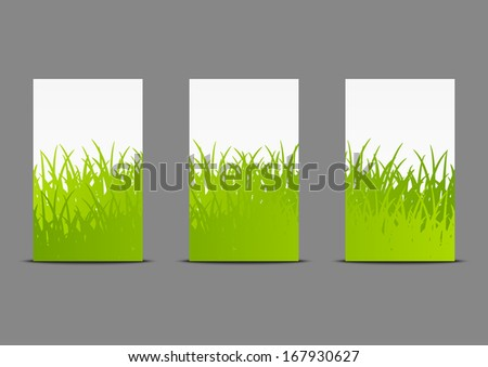 Vertical banners 240 x 400 size - stock vector