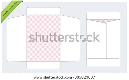 Vertical Envelope Template - stock vector