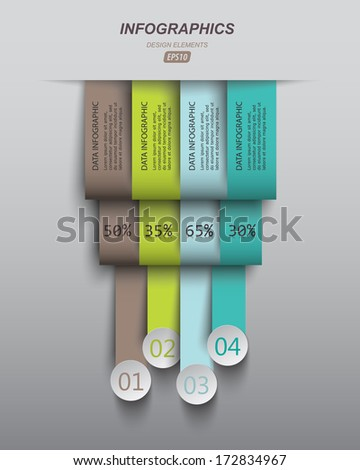 vertical lines of data, can be used in business presentations, advertising, web design, web banners - stock vector