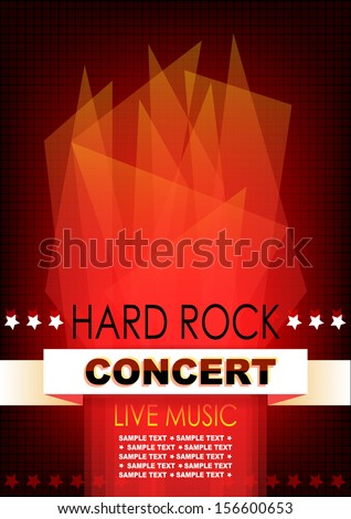 Vertical music background with red abstract elements. Vector version. - stock vector