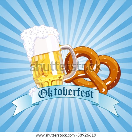 Vertical  Oktoberfest Celebration Radial Background with Copy space. - stock vector
