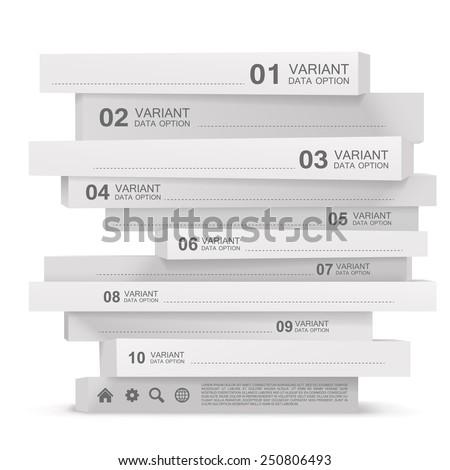 Vertical rectangular pyramid info. Vector illustration - stock vector