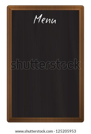 Vertical restaurant wooden chalkboard menu - stock vector