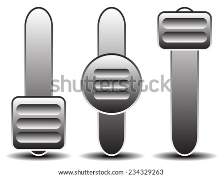 Vertical slider, adjuster templates. - stock vector