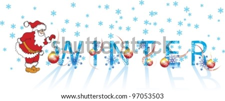 Very beautiful composition from associated time year. Vector illustration. isolated on white background, EPS8, all parts (object)  closed, possibility to edit, without transparence. - stock vector