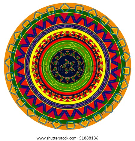 Very detail and colourful Mandala design , colours are easily editable - stock vector