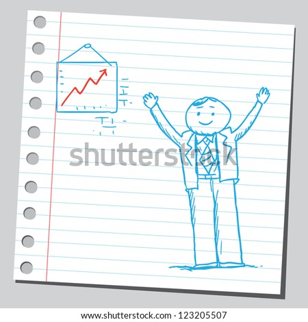 Very happy manager - stock vector