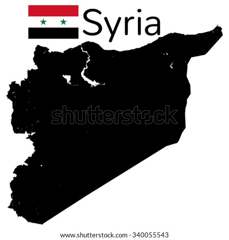 Very high detailed vector map - Syria - stock vector