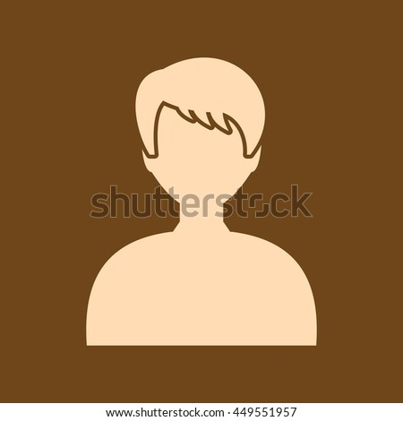 Very Useful Editable Vector icon of User icon on coffee color background. eps-10. - stock vector