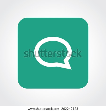 Very Useful Flat Icon of Comment . Eps-10. - stock vector