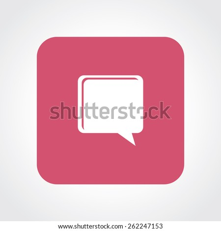 Very Useful Flat Icon of Comments. Eps-10. - stock vector