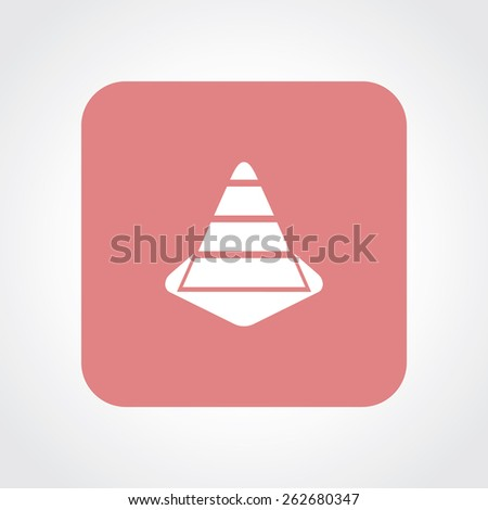 Very Useful Flat Icon of construction Cone. Eps-10. - stock vector