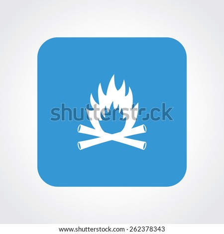 Very Useful Flat Icon of Fire. Eps-10. - stock vector
