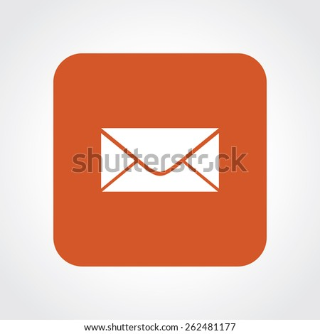 Very Useful Flat Icon of Mail. Eps-10. - stock vector
