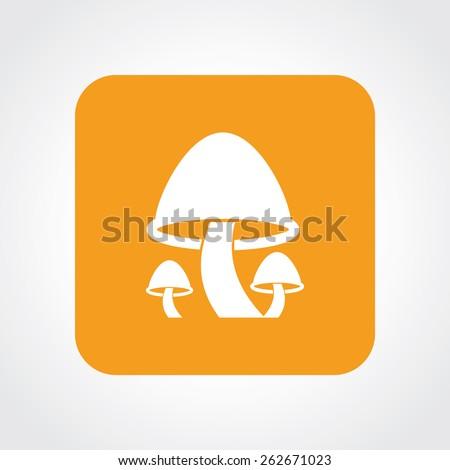 Very Useful Flat Icon of Mushroom. Eps-10. - stock vector