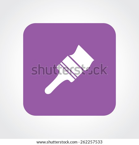 Very Useful Flat Icon of paint brush. Eps-10. - stock vector