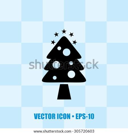 Very Useful Icon Of Christmas Tree. Eps-10. - stock vector