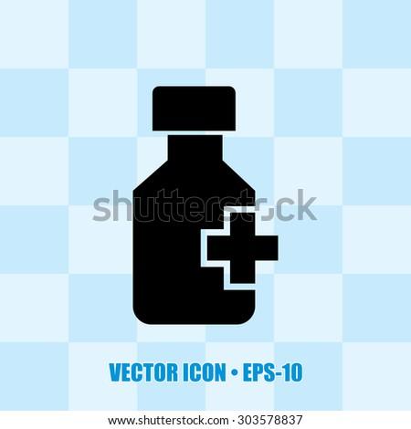 Very Useful Icon Of Drug Bottle. Eps-10. - stock vector