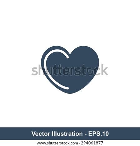 Very Useful Icon Of Heart. Eps-10. - stock vector