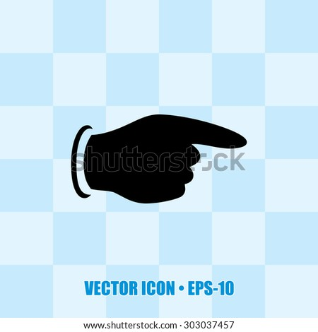 Very Useful Icon Of Pointing Finger. Eps-10. - stock vector