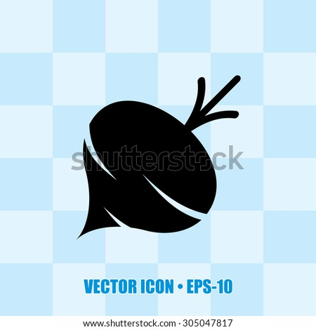 Very Useful Icon Of Turnip Eps-10. - stock vector