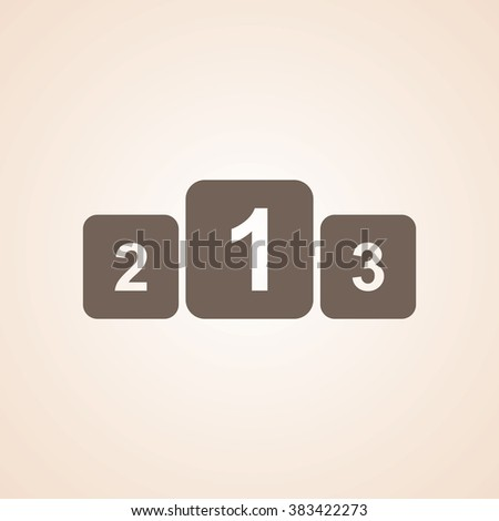 Very Useful Icon of Winners Podium for Web & Mobile. Eps-10. - stock vector