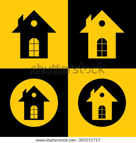 Very Useful Vector Icon Of Home. Eps-10. - stock vector