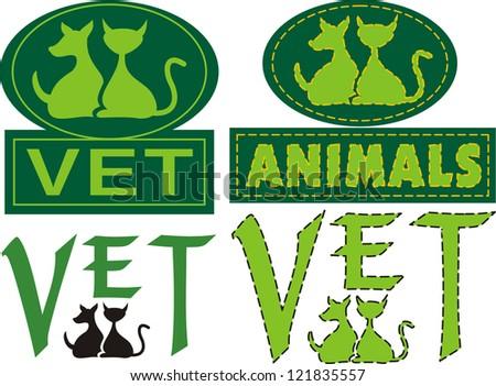 vet emblem - stock vector