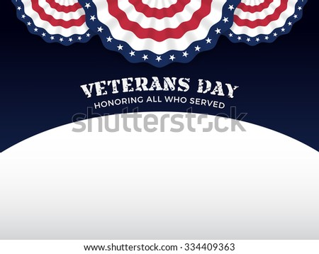 Veterans Day Background with Copy Text Area - stock vector