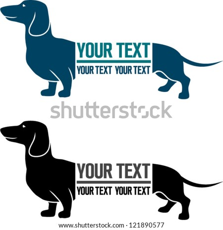 Veterinary emblem dachshund - stock vector