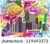 vibrant city. vector - stock vector
