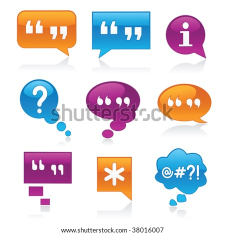 Vibrant, glossy bubbles symbolizing communication - stock vector