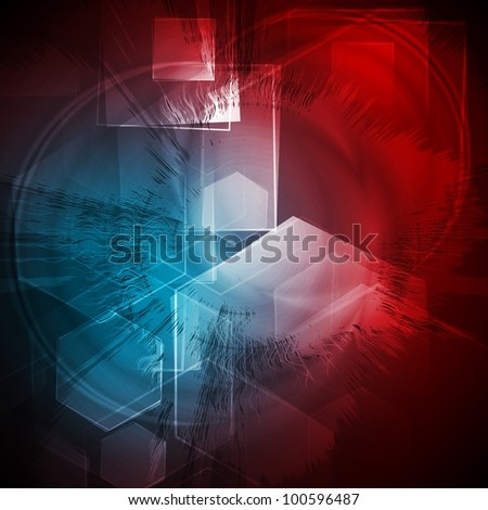 Vibrant grunge background with technical elements. Vector eps 10 - stock vector