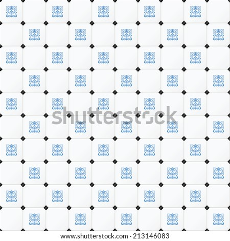 Victorian Tile. Vector illustration - stock vector